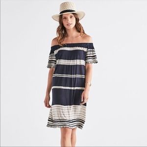 Lucky Brand Off-the-shoulder midi dress